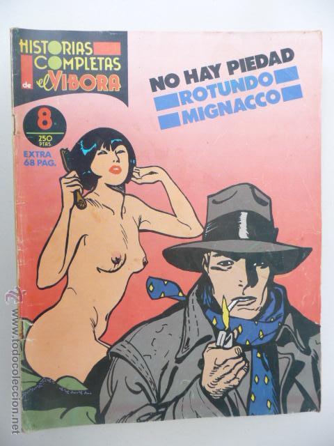 HISTORIAS COMPLETAS DE EL VÍBORA. Nº 8. NO HAY PIEDAD. ROTUNDO/MIGNACCO (Tebeos y Comics - La Cúpula - El Víbora)