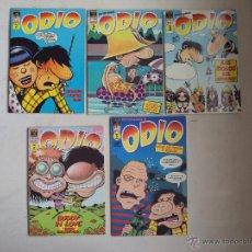 Cómics: LOTE 5 COMICS ODIO, PETER BAGGE'S, Nº1 Nº2 Nº3 Nº4 Nº7, 1995 EDICIONES LA CUPULA. Lote 45215974