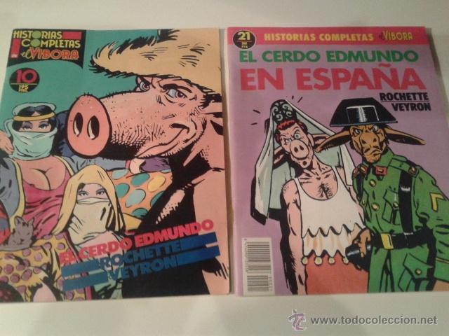 EL CERDO EDMUNDO / EL CERDO EDMUNDO EN ESPAÑA (LOS 2) - ROCHETTE / VEYRON (Tebeos y Comics - La Cúpula - El Víbora)