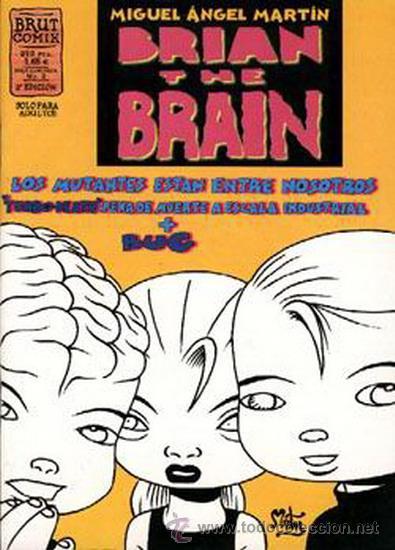 BRIAN THE BRAIN LOTE DE 5Nº 1-2-3-5-6 (Tebeos y Comics - La Cúpula - Comic USA)