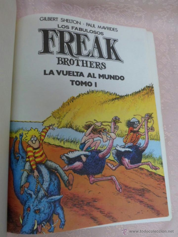 Cómics: LOS FABULOSOS FREAK BROTHERS LA VUELTA AL MUNDO LOTE DEL I Y II - Foto 3 - 49411391