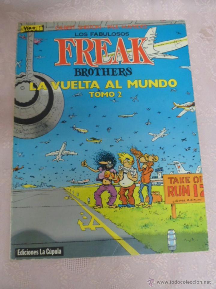 Cómics: LOS FABULOSOS FREAK BROTHERS LA VUELTA AL MUNDO LOTE DEL I Y II - Foto 7 - 49411391