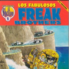 Cómics: GILBERT SHELTON - LOS FABULOSOS FREAK BROTHERS - TOMO 1. Lote 103843102