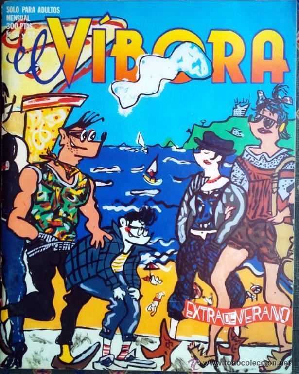 [LOTE DE CONJUNTO:] SIETE NÚMEROS CORRELATIVOS DE EL VÍBORA: DEL 49 AL 55 (Tebeos y Comics - La Cúpula - El Víbora)