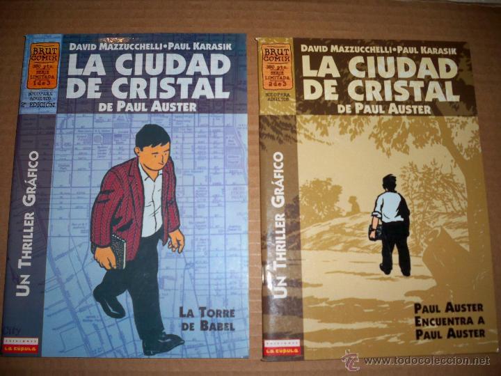 LA CIUDAD DE CRISTAL LA CUPULA PAUL AUSTER BRUT COMIX A ELEGIR (Tebeos y Comics - La Cúpula - Comic USA)