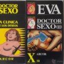 Cómics: LOTE COLECCION X Nº 31 LA CLINICA DE LOS DESEOS, 42 Y 50 DOCTOR SEXO I Y II, 62 EVA POR ARCOR. Lote 54257284