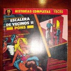 Cómics: PONS, ALFREDO. ESCALERA DE VECINOS II. [HISTORIAS COMPLETAS DE EL VÍBORA ; 15]. Lote 54920530