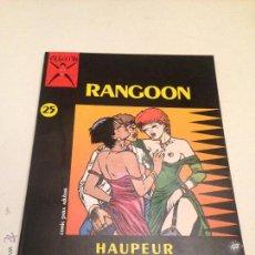 Cómics: COLECCION X Nº 25. RANGOON. HAUPEUR. LA CUPULA 1987.. Lote 55058030