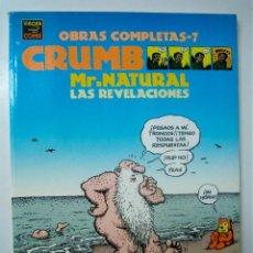 Cómics: MR. NATURAL LAS REVELACIONES - CRUMB OBRAS COMPLETAS 7 - ED. LA CUPULA 1997. Lote 55797305