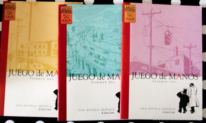 JUEGO DE MANOS DE JASON LUTES. 3 TOMOS. COLECCION COMPLETA (Tebeos y Comics - La Cúpula - Comic Europeo)