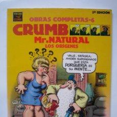 Cómics: MR. NATURAL LOS ORIGENES - CRUMB OBRAS COMPLETAS 6 - 2 EDICION. Lote 56303241