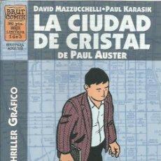 Cómics: COMPLETA - LA CIUDAD DE CRISTAL DE PAUL AUSTER (LA CUPULA,1997) - BRUT COMIX - DAVID MAZZUCCHELLI. Lote 58381872