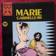 Cómics: COLECCION X Nº 19. MARIE GABRIELLE (III). GEORGES PICHARD. LA CUPULA. MUY DIFICIL. Lote 64078951