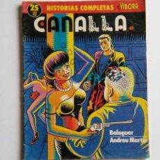 Cómics: CANALLA, DE BALAGUER Y ANDREU MARTÍN. HISTORIAS COMPLETAS EL VIBORA. Lote 64818955