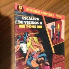 Cómics: ESCALERA DE VECINOS II. PONS. HISTORIAS COMPLETAS EL VIBORA 15. GRAPA. BUEN ESTADO. . Lote 73549411