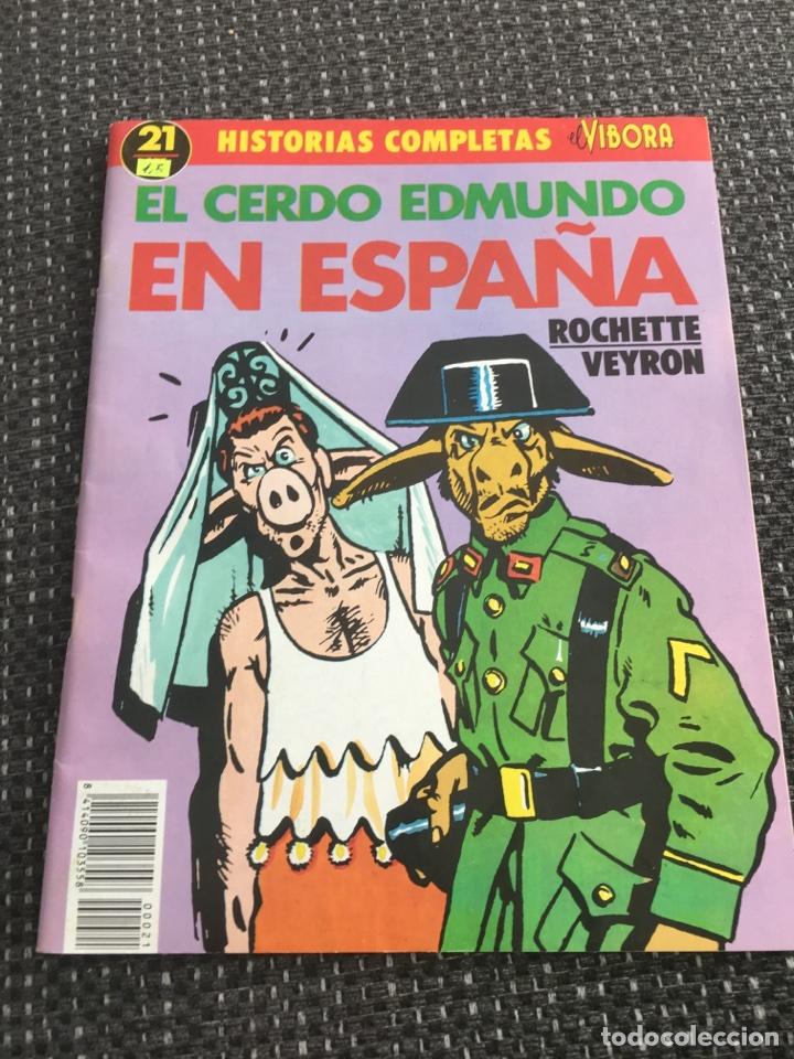 HISTORIAS COMPLETAS DE EL VIVORA. EL CERDO EDMUNDO EN ESPAÑA 1989 (Tebeos y Comics - La Cúpula - El Víbora)