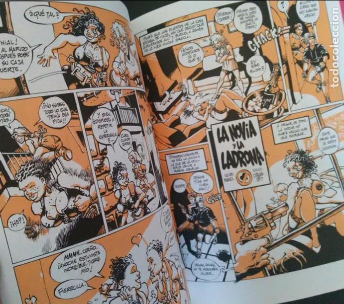 Cómics: LA NOVIA Y LA LADRONA / HOT ROCKETS. SERGIO BLEDA Y RAKEL. ( COMIC ERÓTICO PORNO EXPLÍCITO) - Foto 2 - 82723436