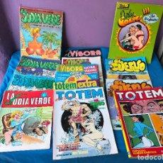 Cómics: LOTE 13 COMIC X , TOTEM , EL CUERVO , LA JUDIA VERDE , EL VIBORA. Lote 110227758