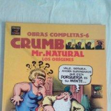 Fumetti: CRUMB,OBRAS COMPLETAS,MR NATURAL,LOS ORIGENES.Nº 6.. Lote 85920780