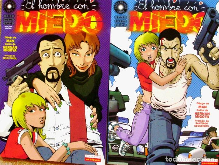 LOTE DE 2 COMICS DE EL HOMBRE CON MIEDO (Tebeos y Comics - La Cúpula - Autores Españoles)