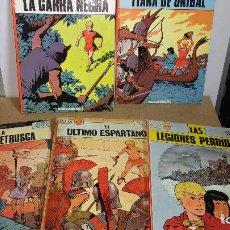 Cómics: OFERTON ALIX PRIMERA EDICION OIKOS TAU - 5 LIBROS COLECCION COMPLETA. Lote 94217350