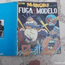 Cómics: MAKOKI PRESENTA FUGA EN LA MODELO,DE VIBORA, GALLARDO & MEDIAVILLA, LA CUPULA, BLANCO Y NEGRO, 1981. Lote 95117383