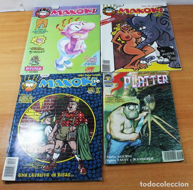 LIQUIDACION: LOTE 4 COMICS MAKOKI Nº 1, 3, 20 Y PLATTER Nº 7 LA CUPULACOMIC (Tebeos y Comics - La Cúpula - Autores Españoles)