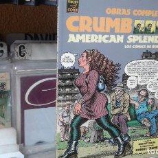Cómics: OBRAS COMPLETAS-12. CRUMB. AMERICAN SPLENDOR. LOS COMICS DE BOB Y HARV. Lote 98218967