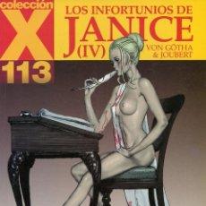 Cómics: ERICH VON GÖTHA. LOS INFORTUNIOS DE JANICE (IV). COLECCION X COLOR 113. LA CÚPULA . Lote 99991463