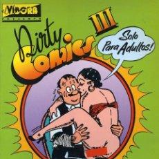 Cómics: DIRTY COMICS III. COMICS PORNO SATIRICOS DE LOS AÑOS 30. LA CÚPULA 1984. Lote 99993839