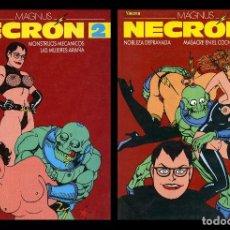 Cómics: NECRON. TOMOS 2 Y 3. POR MAGNUS. EL VIBORA PRESENTA. EDICIONES LA CÚPULA 1989. Lote 100047967