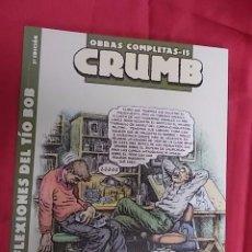 Comics : OBRAS COMPLETAS Nº 15. CRUMB. LAS REFLEXIONES DEL TIO BOB. LA CUPULA. Lote 100544855