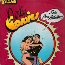 Cómics: EL VÍBORA, PRESENTA: DIRTY COMCS. LOTE 4 NROS. (VER PORTADAS) (RF.MA)C/40. Lote 102002371