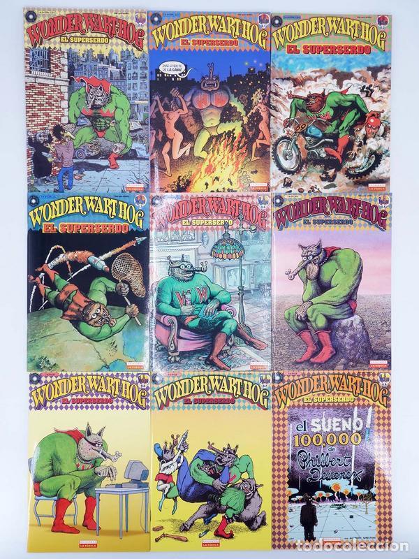 SUPERSERDO 1 AL 9. COMPLETA. WONDER WART HOG (GILBERT SHELTON) LA CÚPULA, 2001. OFRT ANTES 21,05E (Tebeos y Comics - La Cúpula - Comic USA)