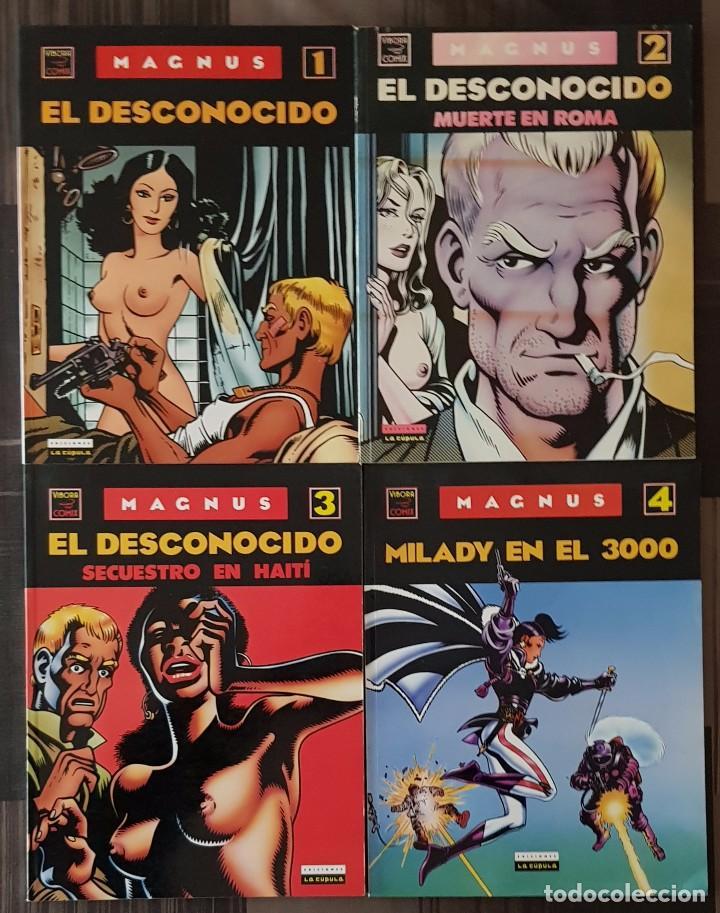 MAGNUS. COLECCIÓN COMPLETA DE 4 COMICS. EDICIONES LA CUPULA 1990 (Tebeos y Comics - La Cúpula - Comic Europeo)