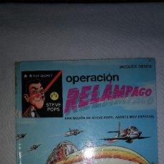 Cómics: OPERACIÓN RELÁMPAGO STEVE POPS AGENTE OIKOS TAU TAPA DURA 1ª EDICION. Lote 105943659