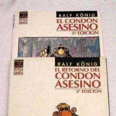 Cómics: EL CONDÓN ASESINO Y EL RETORNO DEL CONDÓN ASESINO - RALF KÖNIG EL VIBORA - BUENA CONSERVACIÓN. Lote 108057735