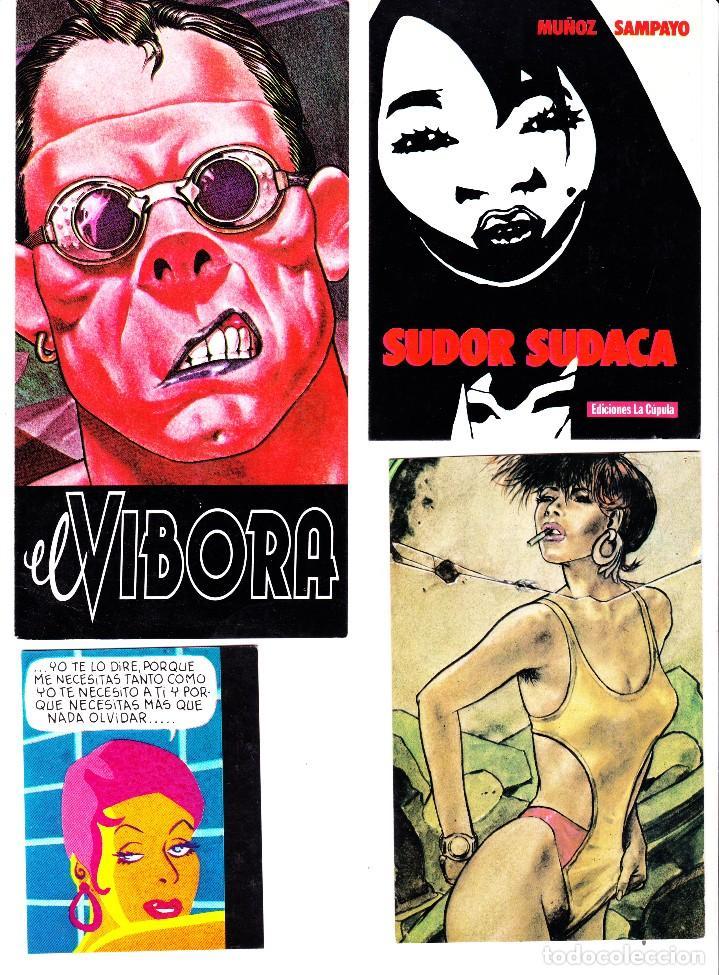 5 TARJETAS POSTALES Y 4 PROMOCIONALES EDICIONES LA CUPULA (Tebeos y Comics - La Cúpula - El Víbora)