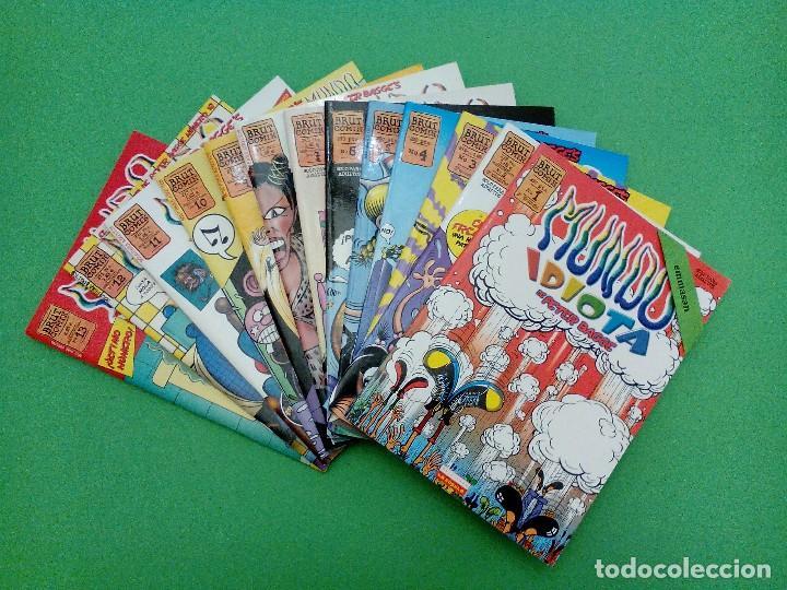 MUNDO IDIOTA - Nº. 1-2-3-4-5-6-7-8-9-10-11-12-13 - PETER BAGGE - EDICIONES LA CÚPULA - COMPLETA. (Tebeos y Comics - La Cúpula - Comic USA)