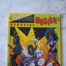 Cómics: EL VÍBORA. ESPECIAL MÚSICA.. Lote 115946763