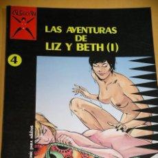 Cómics: LAS AVENTURAS DE LIZ Y BETH 1, COLECCIÓN X Nº 4, 1ª EDICIÓN DE 1987, ED. LA CÚPULA, ADULTOS, ERCOM. Lote 123555047