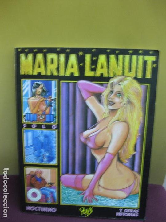 MARIA LANUIT. NOCTURNO Y OTRAS HISTORIAS. PONS. EDICIONES LA CUPULA 1990. (Tebeos y Comics - La Cúpula - Autores Españoles)
