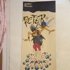 Cómics: POSTER - PETER PANK - MAX - 92 X 35 CM TIENE DOS ROTOS REPARADOS CON CINTA VEGETAL.. Lote 127295331