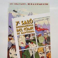 Cómics: POSTER - MAX - POSTER DEL 7 SALO DEL COMIC BARCELONA - EN PERFECTO ESTADO - 1989. Lote 127544123