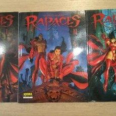 Cómics: RAPACES I II III. DUFAUX 3 TOMOS. CIMOC NORMA EDITORIAL . Lote 127943503