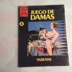 Cómics: JUEGO DE DAMAS, COLECCION X Nº 8 /POR: VARENNE - - EDITA : EDICIONES LA CUPULA. Lote 130413783