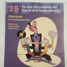 Cómics: MAX - FESTIVAL INTERNATIONAL DEL DISC - POSTER FESTIVAL INTERNATIONAL DEL DISC ET DE LA BANDE DESSI. Lote 133503178