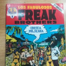 Cómics: LOS FABULOSOS FREAK BROTHERS ODISEA MEJICANA (SHELTON OBRAS COMPLETAS #2) 2ª EDICION. Lote 134161098