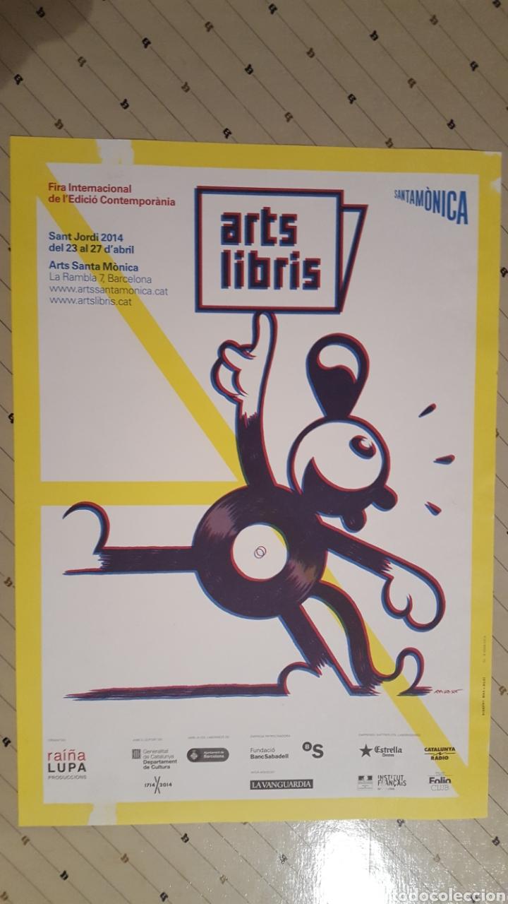 MAX - ARTS LIBRIS - POSTER FIRA INTERNACIONAL CONTEMPORANIA SANT JORDI 2014 30 X 42 CM (Tebeos y Comics - La Cúpula - Autores Españoles)