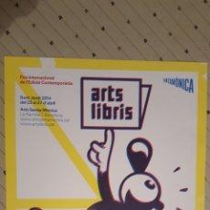 Cómics: MAX - ARTS LIBRIS - POSTER FIRA INTERNACIONAL CONTEMPORANIA SANT JORDI 2014 30 X 42 CM. Lote 134504133